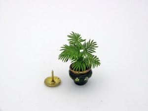 1/24th / Half Scale Handmade Dollhouse Miniature Fan Palm