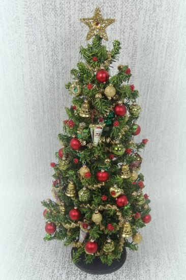 "6.5"" Luxury Heirloom 12th Scale Dollshouse Christmas Tree - Click Image to Close"