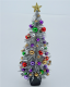 5.75 Silver 1960's Retro style Dollshouse Christmas Tree
