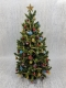 "7.75"" Luxury Christmas Tree in blue, red, green and gold."