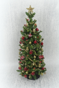 "7"" Luxury Red and Gold 12th scale Christmas tree"