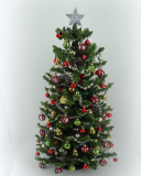 "8.5"" Luxury One of a Kind 12th scale Traditional Christmas Tree"