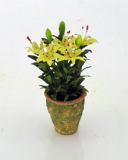 12th scale Miniature Potted Yellow Lilies