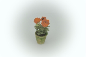 12th Scale Dollshouse Orange Poppies