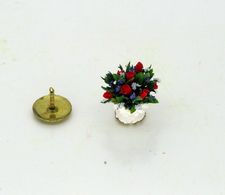 24th Scale Miniature Dollhouse Rose Bowl