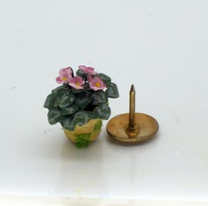 24th Scale Pink African Violet