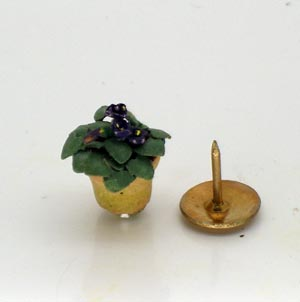 24th Scale Purple African Violet