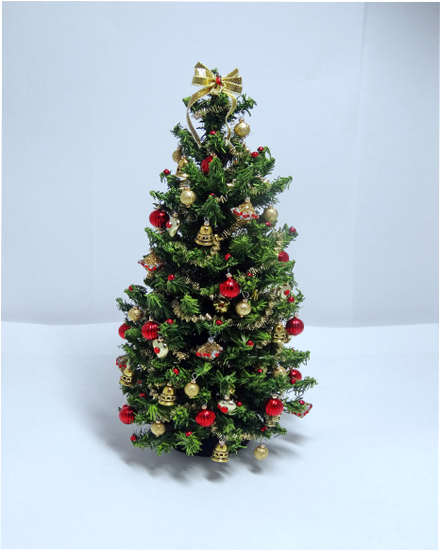 Heirloom Red & Gold Dollshouse Christmas Tree
