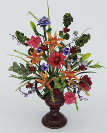 Dollshouse Miniature 12th scale Formal Floral Arrangement - Click Image to Close