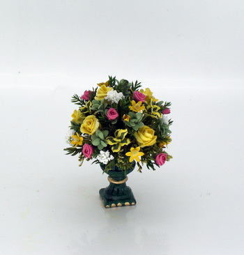 Regal Yellow and Salmon Pink Roses Arrangement
