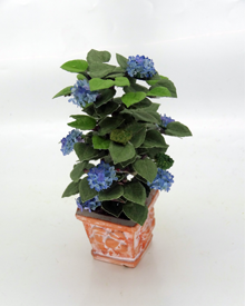 12th Scale Dollshouse Miniature Blue Hydrangea - Click Image to Close