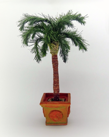 12th Scale dollshouse miniature Palm Tree - Click Image to Close