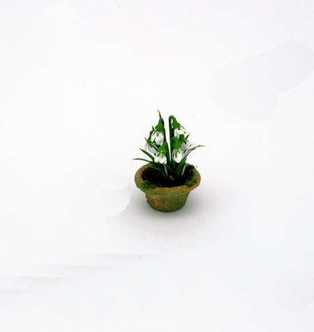 12th scale Dollhouse Miniature Snowdrops
