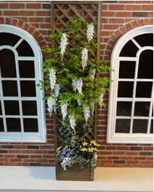 12th Scale White Wisteria Planter - Click Image to Close