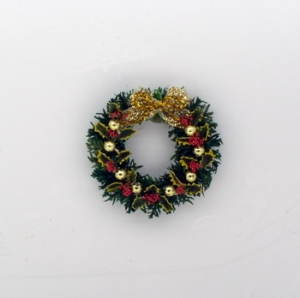 Traditional Holly Leaf and Berry Wreath