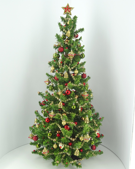 "12th scale 10"" Dollshouse Commissioned Heirloom Christmas Tree - Click Image to Close"