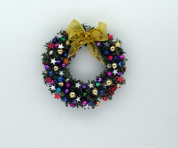 Luxury Star and Bauble Wreath
